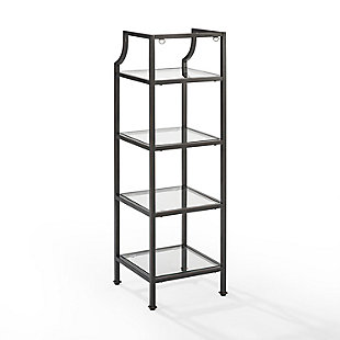 Crosley Aimee Short Etagere, Oil Rubbed Bronze, large