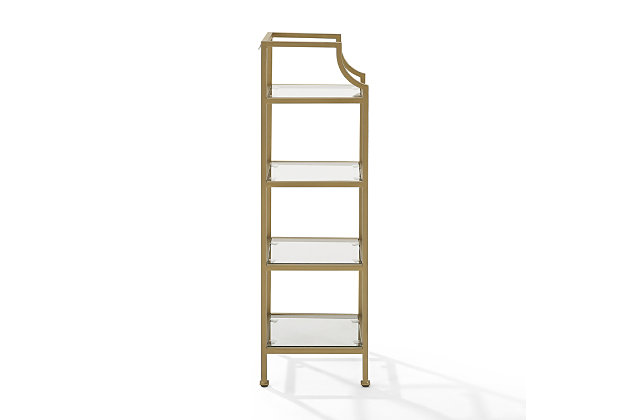 Crosley Aimee Short Etagere, Gold, large
