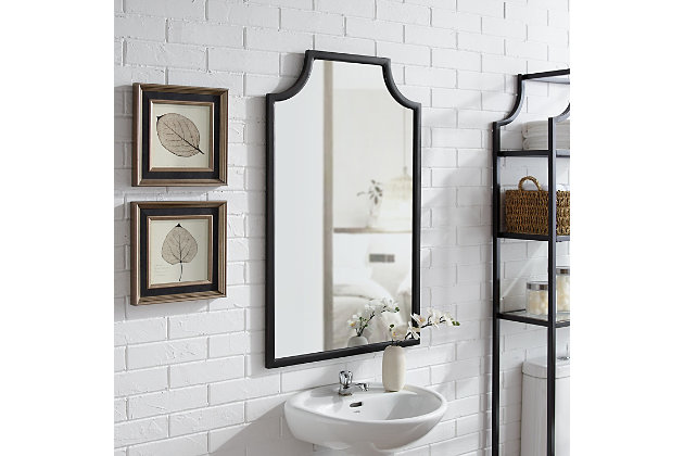 Crosley Aimee Bath Mirror, Oil Rubbed Bronze, large