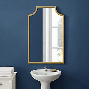Crosley Aimee Bath Mirror, Gold, large
