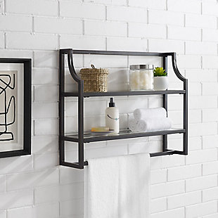 Crosley Aimee Wall Shelf, Oil Rubbed Bronze, rollover