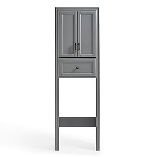Crosley Tara Space Saver Cabinet, Gray, large
