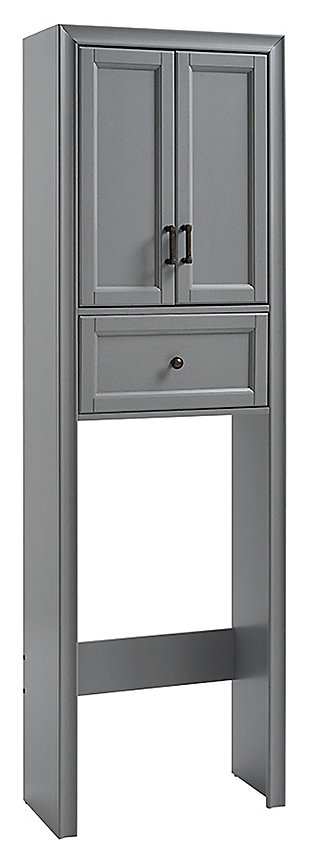 Crosley Tara Space Saver Cabinet, Gray, large