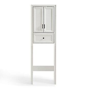 Crosley Tara Space Saver Cabinet, White, large