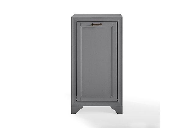 Crosley Tara Linen Hamper, Gray, large