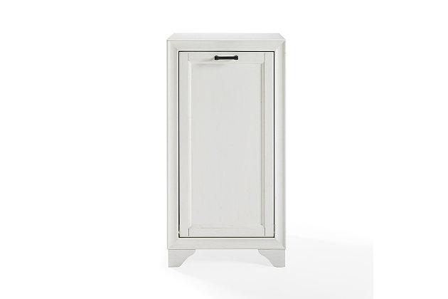 Crosley Tara Linen Hamper, White, large