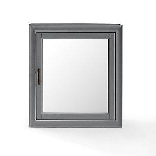 Crosley Tara Bath Mirror Cabinet, Gray, large