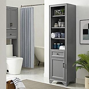 Crosley Tara Linen Cabinet, Gray, rollover