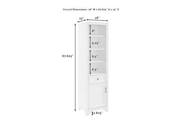 Crosley Tara Linen Cabinet, White, large