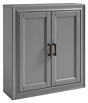Crosley Tara Wall Cabinet, Gray, large
