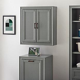 Crosley Tara Wall Cabinet, Gray, rollover
