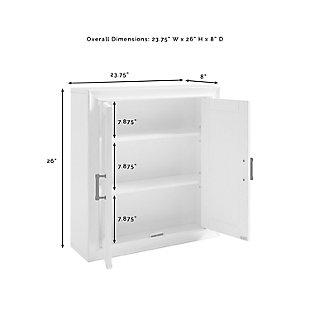 Crosley Tara Wall Cabinet, White, large
