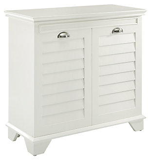 Crosley Lydia Lift-Top Hamper, White, large