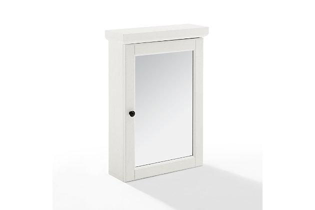 Crosley Seaside Mirrored Wall Cabinet, , large