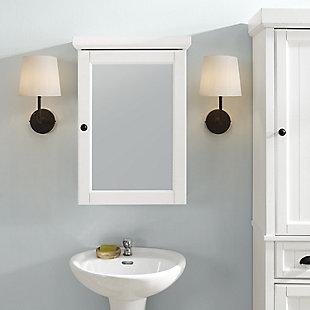 Crosley Seaside Mirrored Wall Cabinet, , rollover