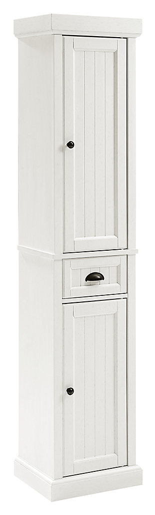 Crosley Seaside Tall Linen Cabinet, , large