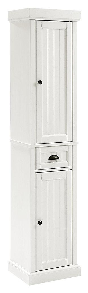 Crosley Seaside Tall Linen Cabinet, , large