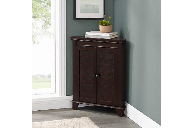 Crosley Lydia Corner Cabinet, Espresso, large