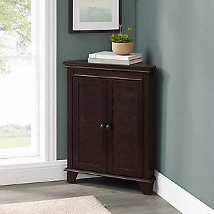 Crosley Lydia Corner Cabinet, Espresso, rollover