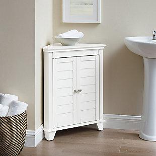 Crosley Lydia Corner Cabinet, White, large