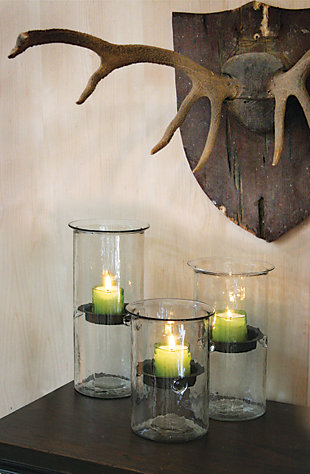 Home Accents Candle Holder, Transparent, rollover