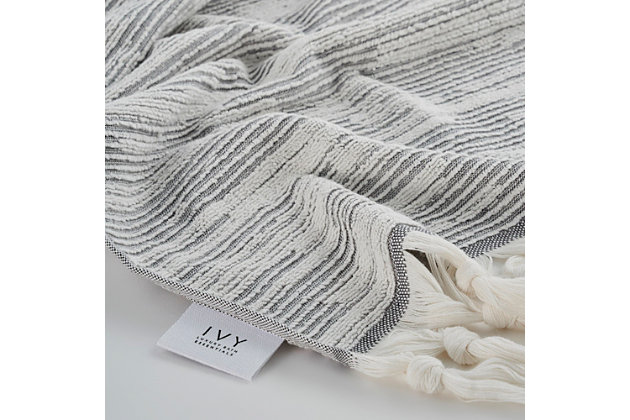 Ivy Luxury Maine Hand Towel Pack of 4 (Gray/White), Gray/White, large