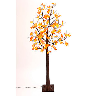 Fall Lighted Maple Leaf Tree with 72 Warm White Micro LED Lights, , rollover
