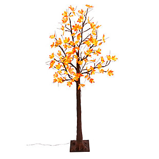 Fall Lighted Maple Leaf Tree with 72 Warm White Micro LED Lights, , large