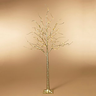 Christmas Gold Tree with 88 Warm White Micro LED Lights, , rollover