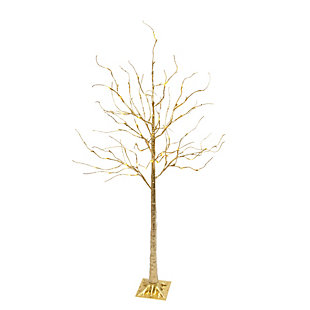 Christmas Gold Tree with 88 Warm White Micro LED Lights, , large