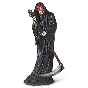 Halloween Battery Operated Grim Reaper with Scythe, , rollover