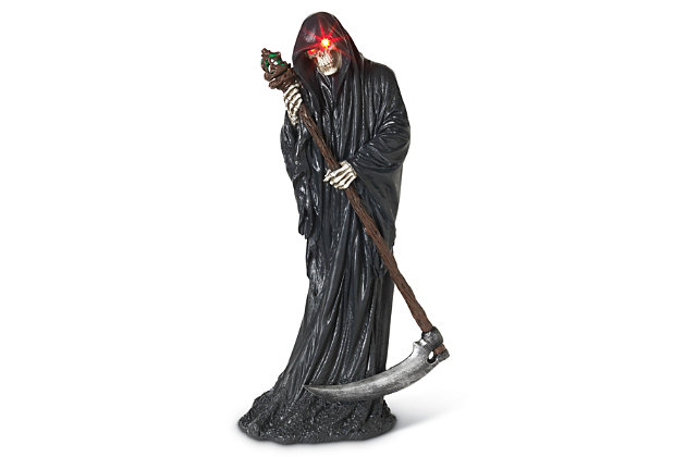 Halloween Battery Operated Grim Reaper with Scythe, , large