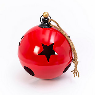 "Christmas 18.75"" Jumbo Hanging Red Metal Jingle Bell, , rollover"