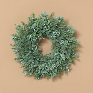 Christmas 22-Inch Cedar Wreath with Berry Accents, , rollover