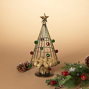 Christmas 14-Inch Metal Holiday Wine Cork Holder Tree, , rollover