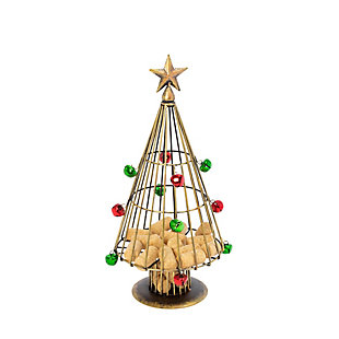 Christmas 14-Inch Metal Holiday Wine Cork Holder Tree, , large