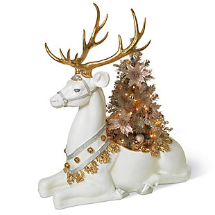 Christmas Resin Reindeer Planter Statue, , large