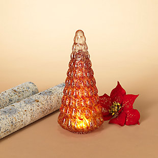 Christmas Lighted Handblown Glass Décor Tree, , rollover