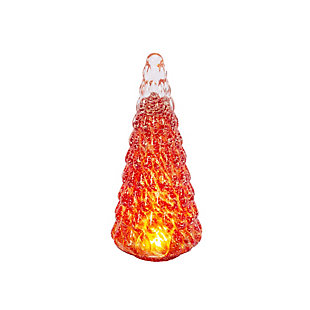 Christmas Lighted Handblown Glass Décor Tree, , large