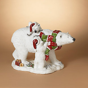 Christmas 20-inch Magnesium Polar Bear with Two Cubs, , rollover