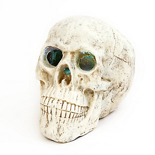 Halloween 20.8-Inch Electric Magnesium Smoking Haunted Skull, , large
