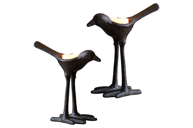 Home Accents Bird Candle Holder (Set of 2), , large