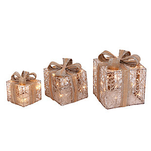 Christmas Battery Operated Holiday Jewel Gift Box Décor (Set of 3), , large