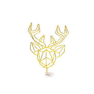 Christmas 14.5-inch LED Wrapped Electric Deer Head Tree Topper, , large
