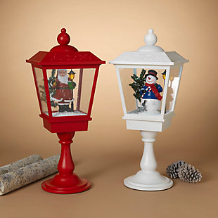 Christmas Battery Operated Musical Snowing Lanterns (Set of 2), , rollover