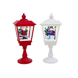 Christmas Battery Operated Musical Snowing Lanterns (Set of 2), , large