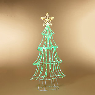 Christmas 59-inch Neon Green LED Green Christmas tree, , rollover