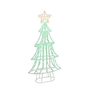 Christmas 59-inch Neon Green LED Green Christmas tree, , large
