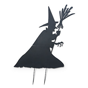 Halloween 78-Inch Metal Witch Silhouette Yard Stake, , large