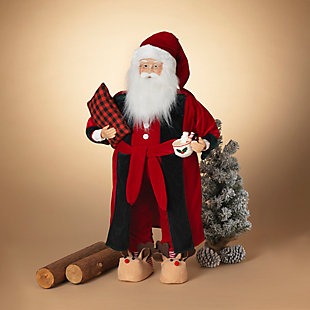 Christmas 3Ft. Holiday Santa Figurine, , rollover